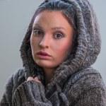 Yüzündeki frost ile kız — Stok fotoğraf #33877173
