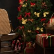 Christmas living room — Stock Photo