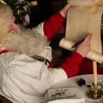 Santa Claus sitting at home — Stock Photo #33879521
