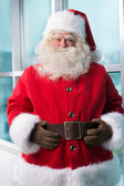Santa at Airport — Stock Photo