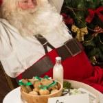 Santa Claus relaxing at home — Stock Photo #33880867