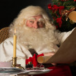 Santa Claus sitting at home — Lizenzfreies Foto