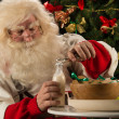 Santa Claus eating cookies  — Stock Photo