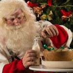 Santa Claus eating cookies — Stock Photo #33882363