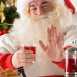 Santa Claus at home  — Stock Photo