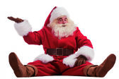 Santa Claus showing presenting gesture — Foto Stock