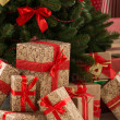 Christmas Tree and gift boxes — Stock Photo