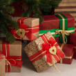 Foto de Stock  : Christmas Tree and gift boxes