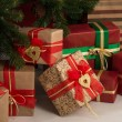Stockfoto: Christmas Tree and gift boxes