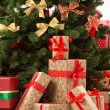 Stock Photo: Christmas Tree and gift boxes