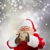 Authentic Santa Claus with real beard and great smiling — Stock Photo