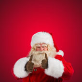 Authentic Santa Claus with real beard and great smiling — Stok fotoğraf
