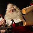 Santa Claus sitting at home and writing a letter — Stock Photo #36520083