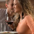 Young happy couple on romantic date — Stock Photo #36952127