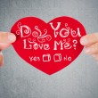 Do you love me? Valentine's day background. — Stock Photo #38643381