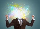 Koncept tvůrčí myšlenky podnikatel — Stock fotografie