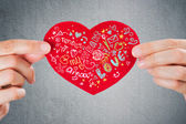 Sharing love. Valentine's day background. — Stock Photo