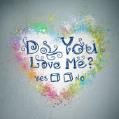 Do you love Me? Creative valentine grunge background. — Foto de Stock