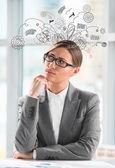 Begreppet stress med affärskvinna — Stockfoto