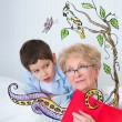 Grandmother and little boy — Stock Photo #39988555