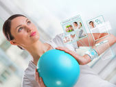 Woman doing exercises — Stock Photo
