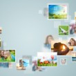 Travel and photo sharing technology background — Stock Photo #43650515