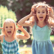 Постер, плакат: Little girls having fun together