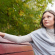 Woman on bench — Stock Photo