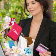 Woman shopping online laptop credit card — Stock Photo #44549975