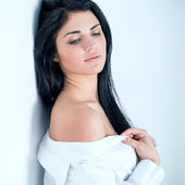 Woman looking vulnerable — Stock Photo