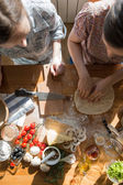 Two women cooking — Stock Photo