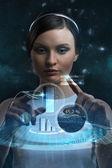 Businesswoman of future — Stock Photo