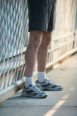 Athletic man legs — Stock Photo
