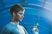 运动员的饮用水 — 图库照片