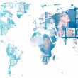 Photo of business are glowing at world map. International — Stock Photo #8662440