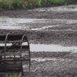 Plowing paddy field — Stock Video