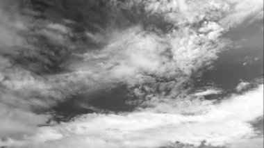 Gray-scale cloud — Stockvideo