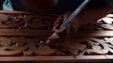 Wood carving — Stock Video