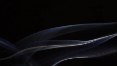 Suddiga slo-mo tredubbla rök 5 — Stockvideo