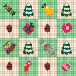 Royalty-Free Stock Vector Image: Checked christmas pattern.