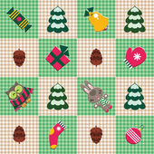Checked christmas pattern. — Stock Vector