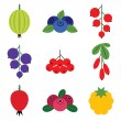 Stock Vector: Berries set