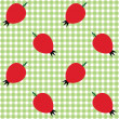 Checked pattern with rose hip - Stock Vector