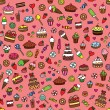 Stock Vector: Seamless pattern with sweets