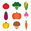 Stock Vector: Vegetables set