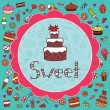 Royalty-Free Stock Vector Image: Card with cake