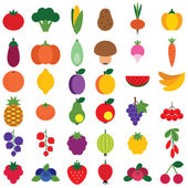 Fruits ans vegetables set — Stock Vector