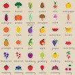 Royalty-Free Stock Obraz wektorowy: Set of fruit and vegetable stickers