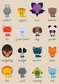 Cute animals set — Stock Vector