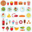 Stock Vector: Food set